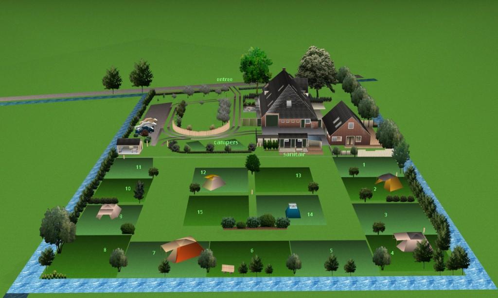 3D terrein camping noord2